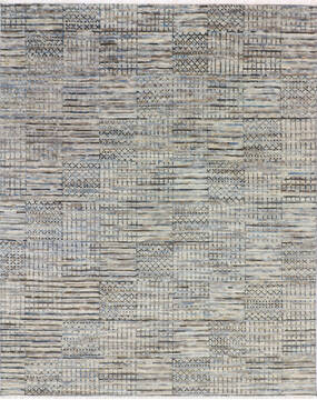 "Modern-Contemporary Multicolor Hand Knotted 8'2"" X 10'2""  Area Rug 904-145197"