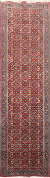 Indian Kashan Red Runner 10 to 12 ft Wool Carpet 145198