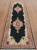 Kashan Blue Runner Hand Knotted 26 X 100  Area Rug 902-145199 Thumb 2