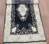 Kashan Black Hand Knotted 30 X 50  Area Rug 902-145200 Thumb 1