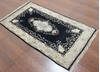 Kashan Black Hand Knotted 30 X 50  Area Rug 902-145200 Thumb 2
