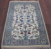 Kashan Beige Hand Knotted 30 X 50  Area Rug 902-145201 Thumb 4
