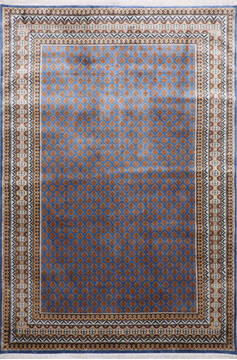Indian Mahi Blue Rectangle 6x9 ft Silk Carpet 145272