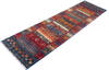 Chobi Multicolor Runner Hand Knotted 28 X 910  Area Rug 700-145286 Thumb 2