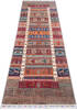 Chobi Multicolor Runner Hand Knotted 211 X 96  Area Rug 700-145287 Thumb 1