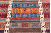 Chobi Multicolor Runner Hand Knotted 211 X 96  Area Rug 700-145287 Thumb 3