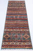 Chobi Multicolor Runner Hand Knotted 29 X 82  Area Rug 700-145288 Thumb 1