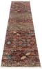 Chobi Brown Runner Hand Knotted 29 X 100  Area Rug 700-145290 Thumb 1