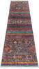 Chobi Multicolor Runner Hand Knotted 29 X 100  Area Rug 700-145291 Thumb 1