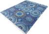 Chobi Blue Hand Knotted 80 X 100  Area Rug 700-145327 Thumb 2