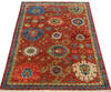 Chobi Red Hand Knotted 311 X 60  Area Rug 700-145340 Thumb 1