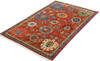 Chobi Red Hand Knotted 311 X 60  Area Rug 700-145340 Thumb 2