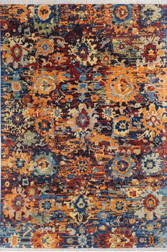 "Modern Orange Hand Knotted 6'8"" X 9'9""  Area Rug 700-145347"