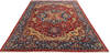 Chobi Red Hand Knotted 92 X 119  Area Rug 700-145348 Thumb 1