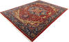 Chobi Red Hand Knotted 92 X 119  Area Rug 700-145348 Thumb 2