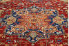 Chobi Red Hand Knotted 92 X 119  Area Rug 700-145348 Thumb 3