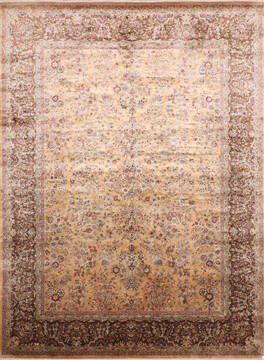 "Jaipur Yellow Hand Knotted 8'11"" X 12'3""  Area Rug 905-145373"