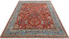 Chobi Red Hand Knotted 80 X 101  Area Rug 700-145376 Thumb 1