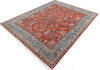 Chobi Red Hand Knotted 80 X 101  Area Rug 700-145376 Thumb 2