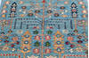Chobi Blue Runner Hand Knotted 25 X 97  Area Rug 700-145388 Thumb 3