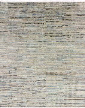 "Modern-Contemporary Multicolor Hand Knotted 8'0"" X 10'0""  Area Rug 904-145433"