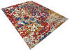 Modern-Contemporary Multicolor Hand Knotted 90 X 119  Area Rug 904-145446 Thumb 1