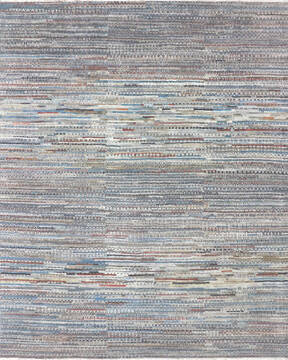 "Modern-Contemporary Multicolor Hand Knotted 8'3"" X 10'3""  Area Rug 904-145448"