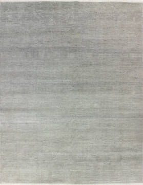 "Modern-Contemporary Blue Hand Knotted 8'0"" X 10'1""  Area Rug 904-145467"