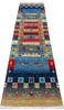 Chobi Multicolor Runner Hand Knotted 26 X 98  Area Rug 700-145512 Thumb 1