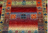 Chobi Multicolor Runner Hand Knotted 26 X 98  Area Rug 700-145512 Thumb 3