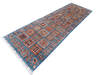 Chobi Blue Runner Hand Knotted 26 X 84  Area Rug 700-145581 Thumb 2