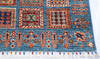 Chobi Blue Runner Hand Knotted 26 X 84  Area Rug 700-145581 Thumb 4
