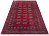 Bokhara Red Hand Knotted 53 X 76  Area Rug 700-145665 Thumb 1