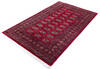 Bokhara Red Hand Knotted 53 X 76  Area Rug 700-145665 Thumb 2