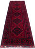 Khan Mohammadi Red Runner Hand Knotted 29 X 77  Area Rug 700-145871 Thumb 1
