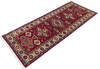 Kazak Red Runner Hand Knotted 27 X 67  Area Rug 700-145880 Thumb 2