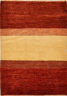 "Gabbeh Red Hand Knotted 4'0"" X 5'10""  Area Rug 100-15204"