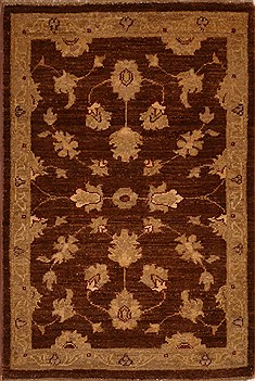 "Pakistani Chobi  Wool Brown Area Rug  (2' 0"" x 2'11"") - 103 - 15411"