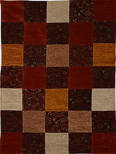 "Patchwork Multicolor Flat Woven 5'0"" X 6'9""  Area Rug 100-15515"