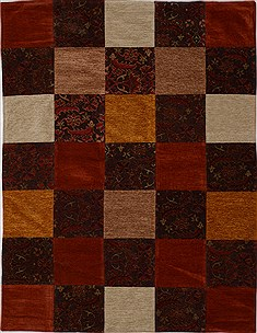 "Patchwork Multicolor Flat Woven 5'0"" X 6'9""  Area Rug 100-15519"