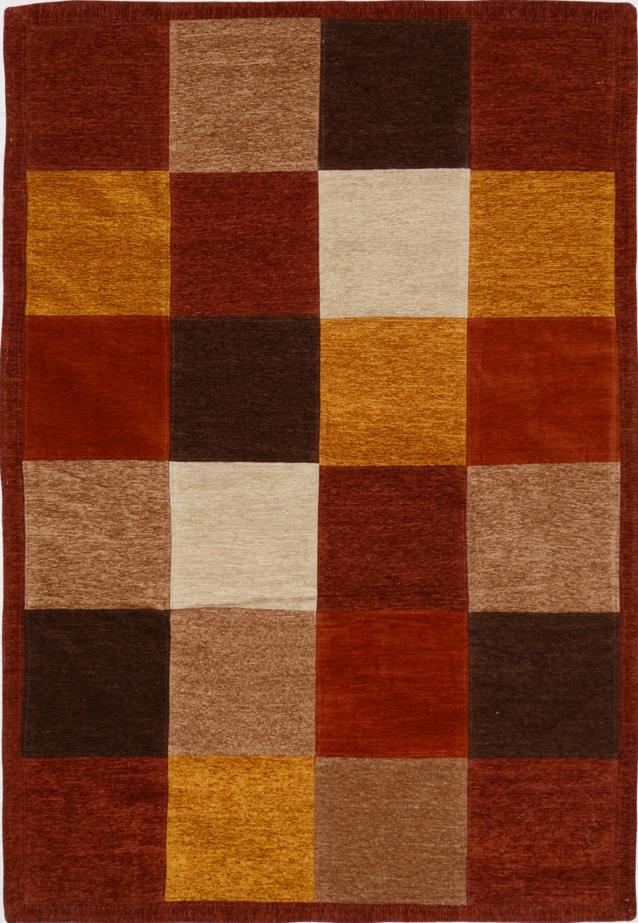 Multicolor Rectangle 4x6 Ft Wool Carpet