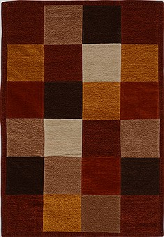 Indian Patchwork Multicolor Rectangle 4x6 ft Wool Carpet 15540