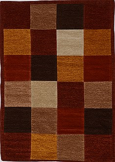 "Patchwork Multicolor Flat Woven 4'0"" X 6'0""  Area Rug 100-15541"