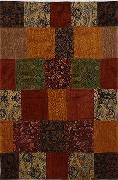 Indian Patchwork Multicolor Rectangle 4x6 ft Wool Carpet 15545