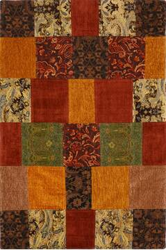 "Patchwork Multicolor Flat Woven 4'0"" X 6'0""  Area Rug 100-15547"