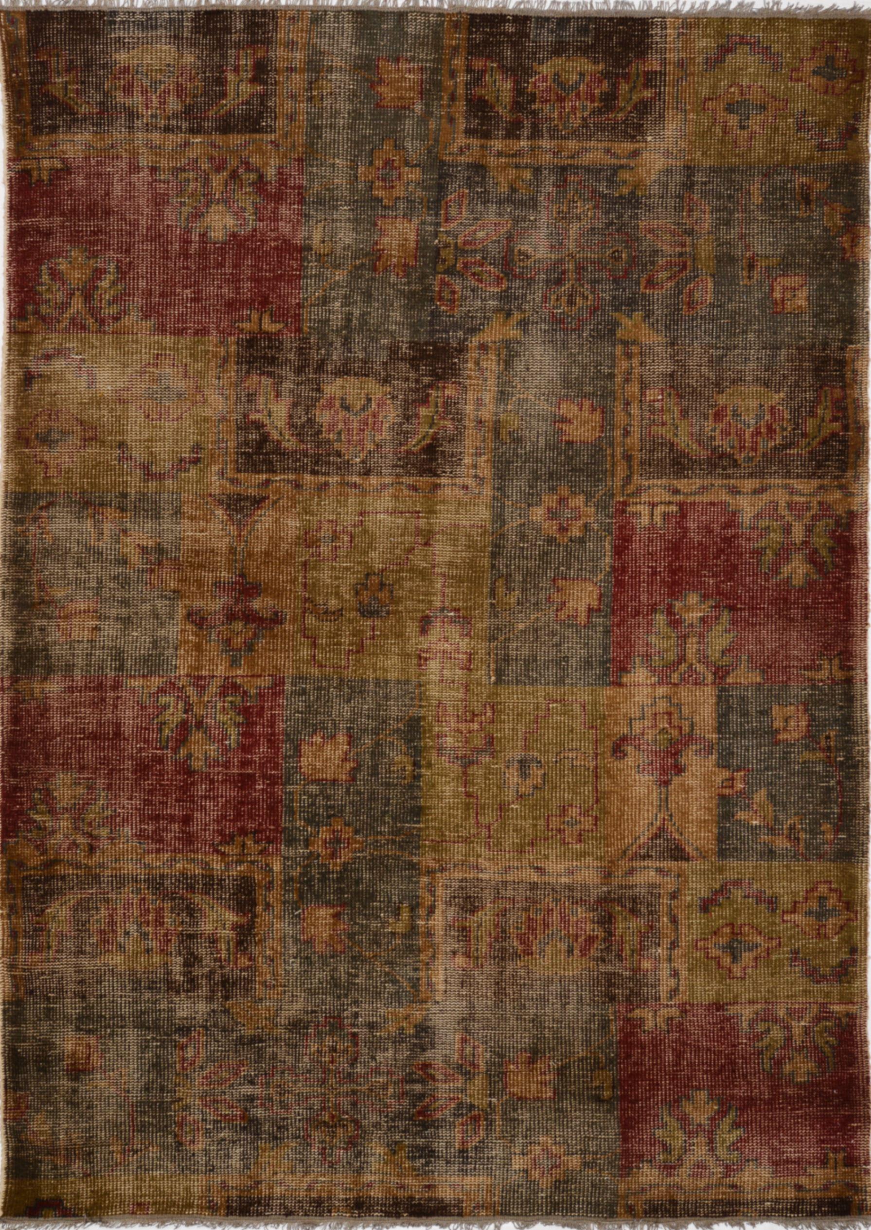 Multicolor Rectangle 6x9 Ft Wool Carpet