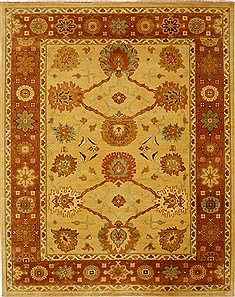 "Heriz Yellow Hand Knotted 7'10"" X 9'11""  Area Rug 100-15597"