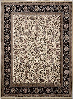 "Kashan White Hand Knotted 9'1"" X 12'0""  Area Rug 100-15624"