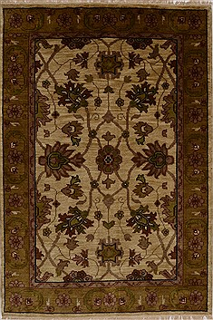 "Jaipur Beige Hand Knotted 4'0"" X 5'11""  Area Rug 100-15634"
