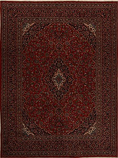 "Khorasan Red Hand Knotted 9'6"" X 12'11""  Area Rug 251-15640"
